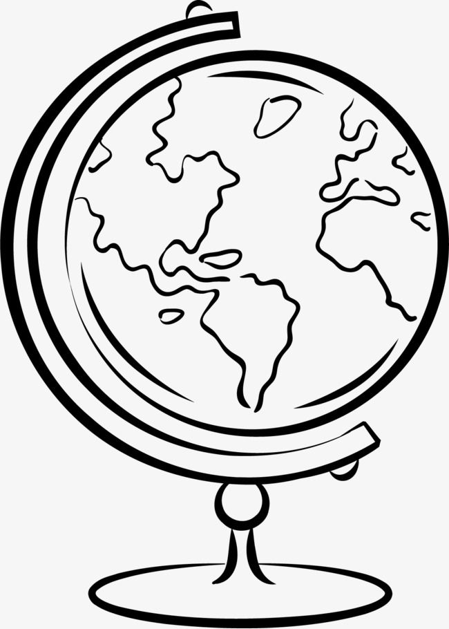 Globe clipart black and white clip art Hand Drawn Globe | globes | Globe drawing, How to draw hands, Drawings clip art