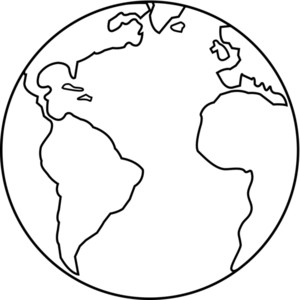 Globe clipart outline image freeuse stock Globe black and white earth map clipart black and white - WikiClipArt image freeuse stock