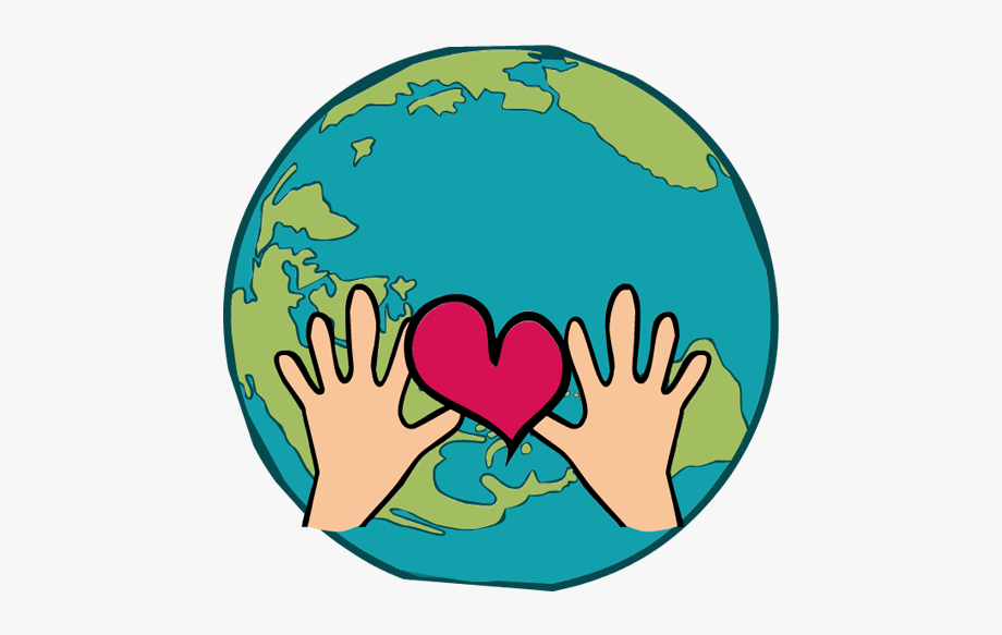 Globe hands clipart png transparent library Earth Heart Clipart - Globe With Heart And Hands - Download Clipart ... png transparent library