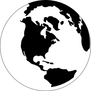 Globe map clipart picture stock Globe Black And White Outline | Clipart Panda - Free Clipart Images picture stock