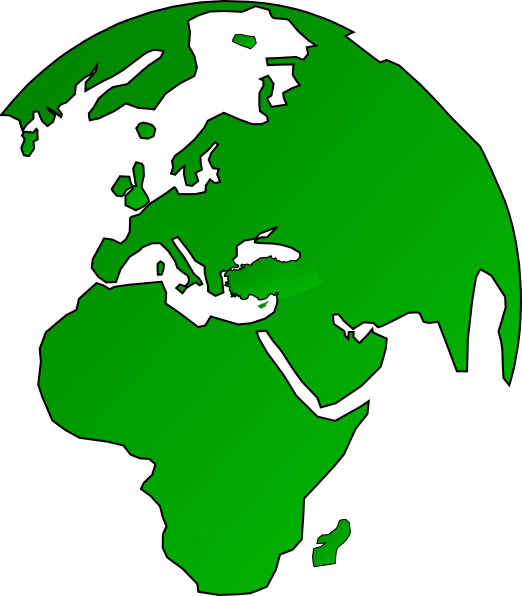 Map and globe clipart banner free download African Globe Map Green Clip Art at Clker.com - vector clip art ... banner free download