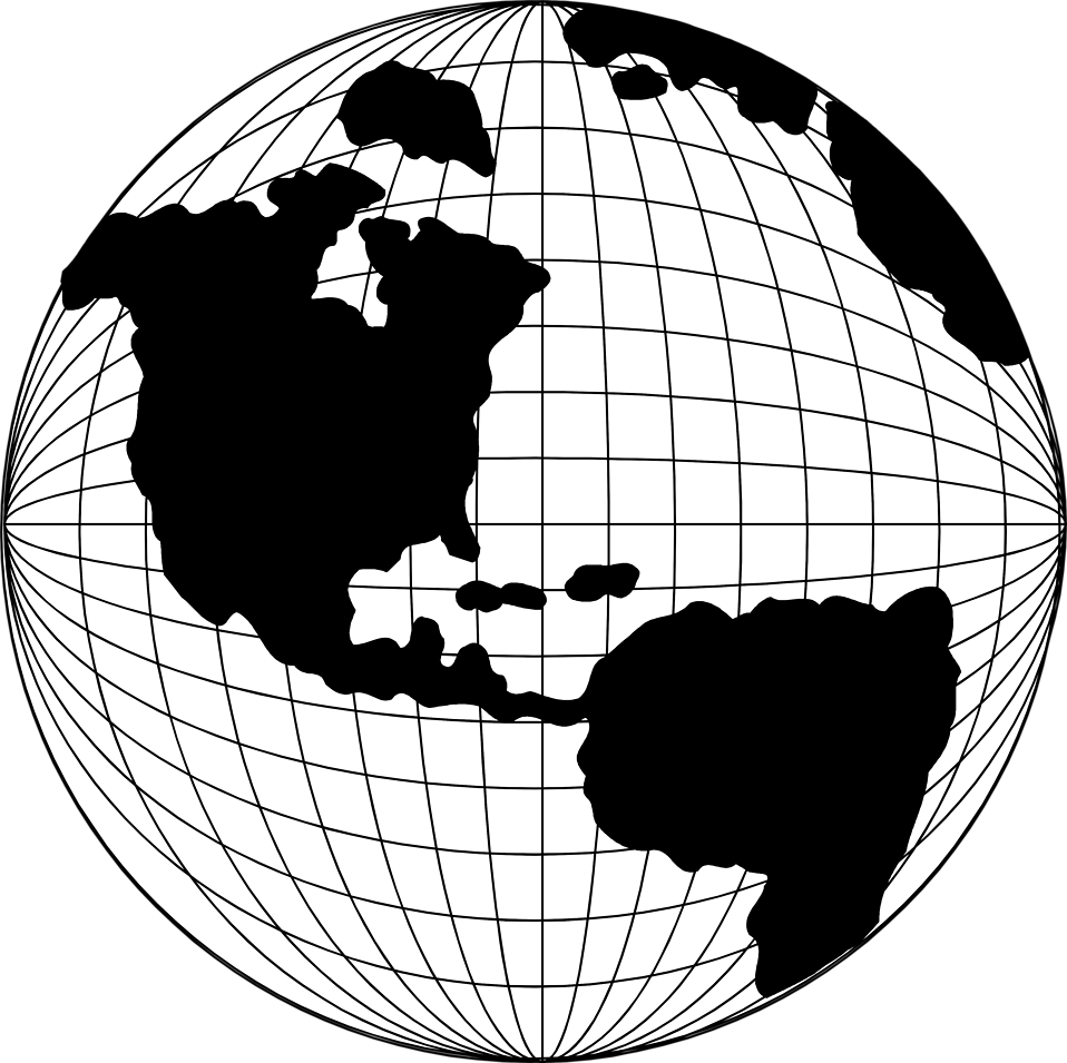 Globe map clipart clipart library Globe | Free Stock Photo | Illustration of a globe with a map of ... clipart library