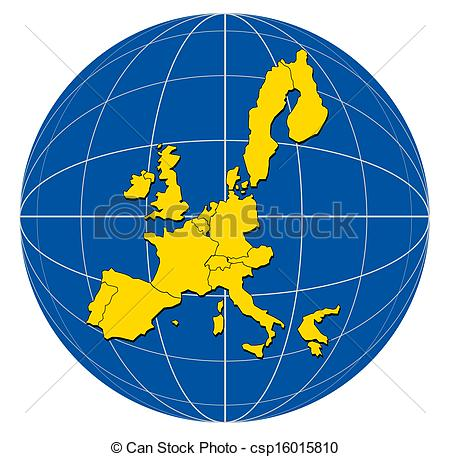 Globe map clipart vector free Clipart of Globe Europe Map - Illustration of a globe with the map ... vector free