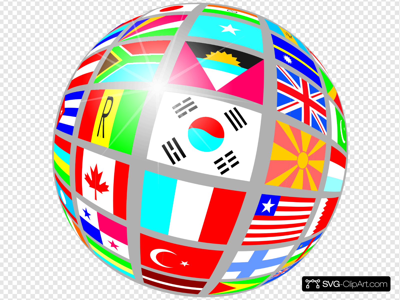 Globe with flags clipart png free stock Globe Of Flags Clip art, Icon and SVG - SVG Clipart png free stock