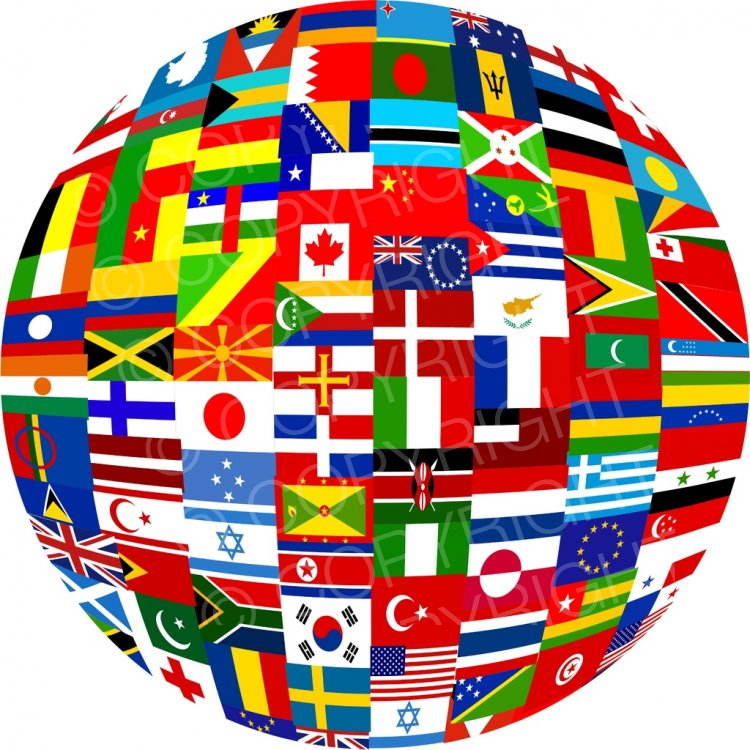 Globe with flags clipart clip royalty free download World Flag Globe Prawny Clip Art – Prawny Clipart Cartoons & Vintage ... clip royalty free download