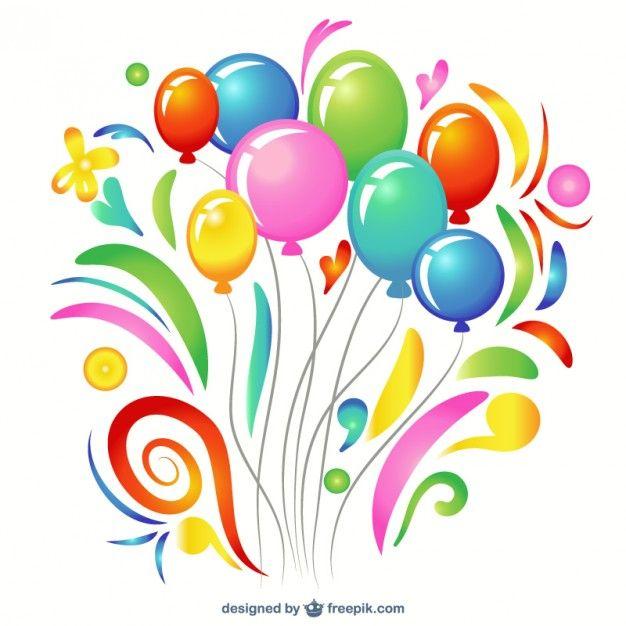Globos clipart gratis clip art freeuse download globos de cumpleaños para imprimir - Buscar con Google | Tarjetas ... clip art freeuse download
