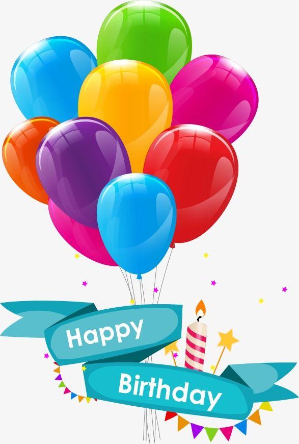 Globos de cumplea+-os animados clipart vector Vector Cartoon Birthday Balloons, Cartoon Clipart, Birthday Balloons ... vector