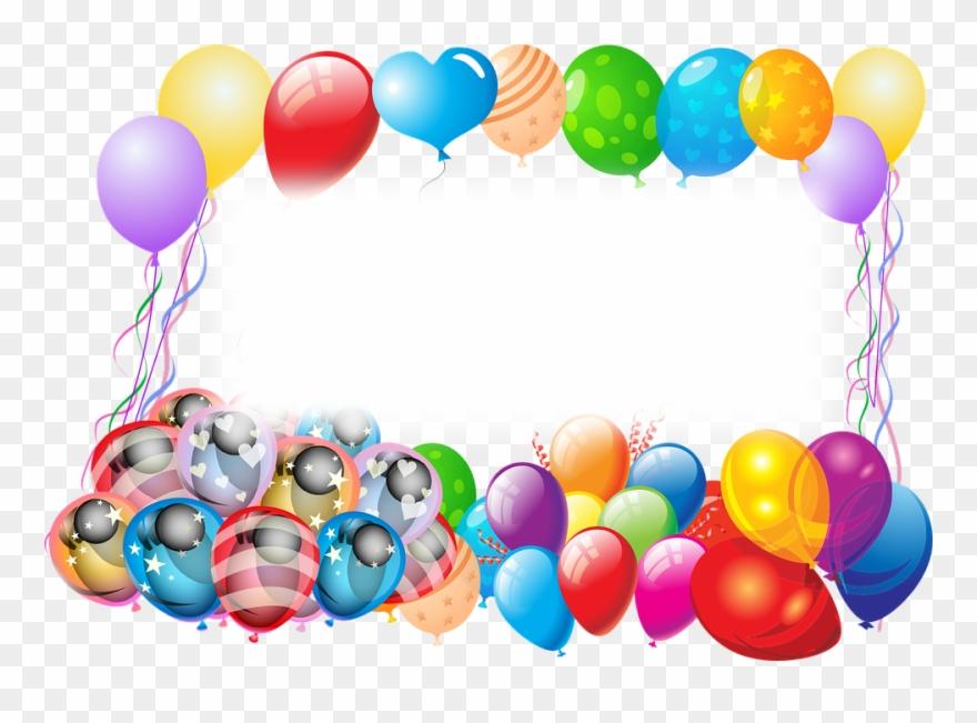 Globos de cumplea+-os clipart svg free Cake And Balloons - Feliz Y Bendecido Cumpleaños Animado Clipart ... svg free