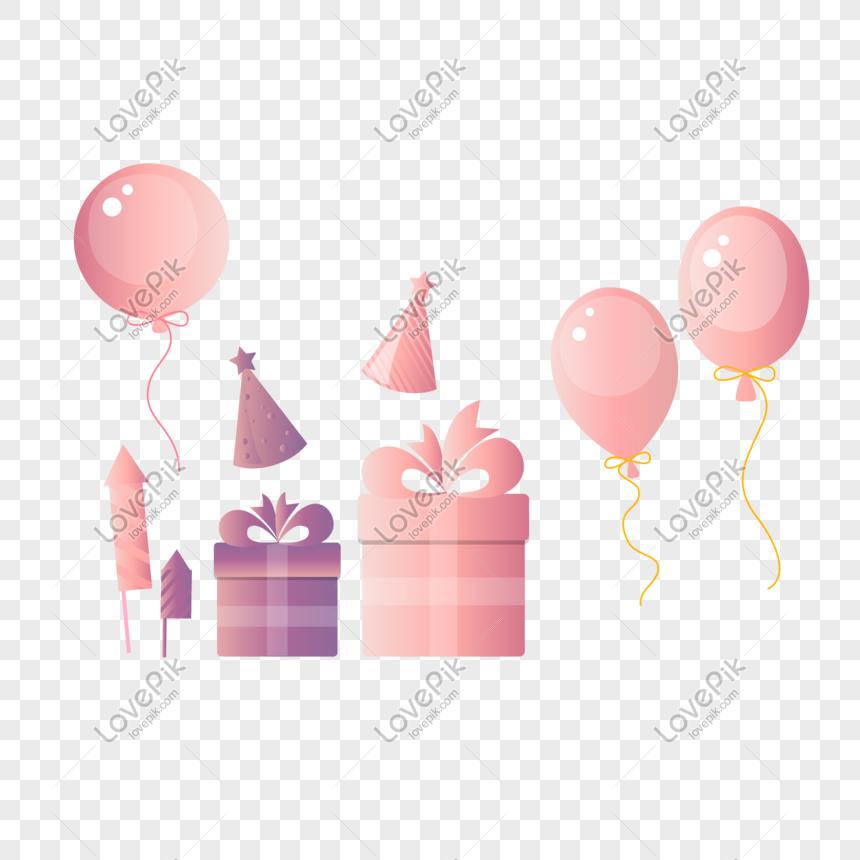 Globos de cumplea+-os animados clipart image free library gradiente de dibujos animados cumpleaños fiesta globo regalo Imagen ... image free library
