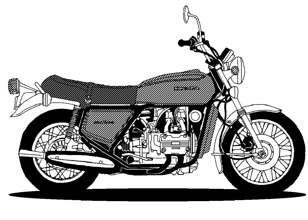 Glodwing trike black and white clipart image freeuse stock goldwing trike motorcycle clipart | Nothing but Wings | Trike ... image freeuse stock