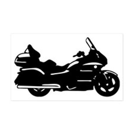 Glodwing trike black and white clipart graphic freeuse download Honda Goldwing GL1800 Silhouette Decal 5.25 x by RockHollowDecals ... graphic freeuse download