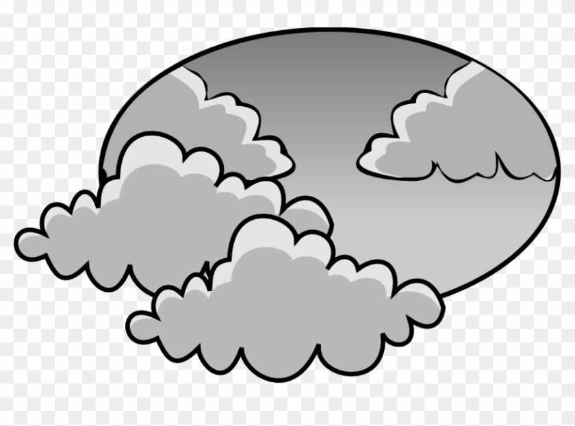 Gloomy clipart vector black and white download Gloomy Clipart Fog Weather - Clip Art Cloudy Day, HD Png Download ... vector black and white download
