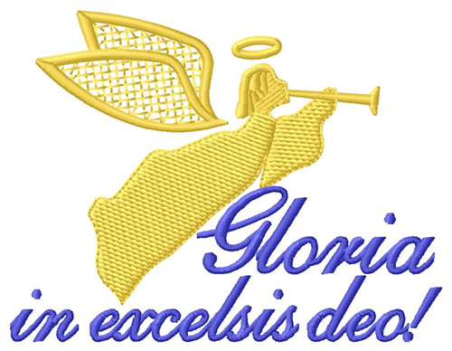 Gloria in excelsis deo clipart royalty free Gloria In Excelsis Deo Embroidery Design royalty free