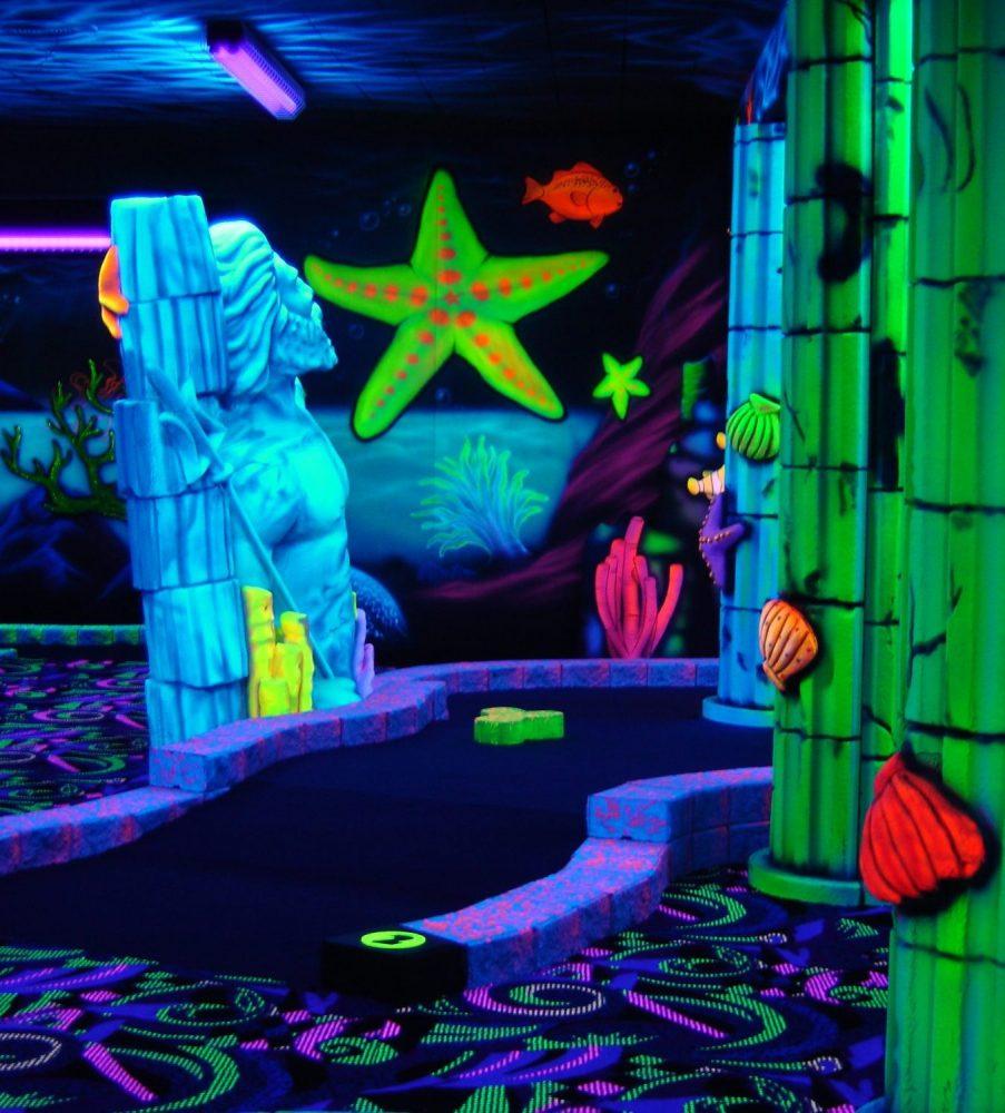 Glow in the dark mini golf clipart banner free stock Blacklight Golf   Gatlin\'s Fun Center banner free stock