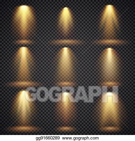 Glow vector clipart jpg free stock EPS Illustration - Sunlight glowing, yellow lights glow vector ... jpg free stock