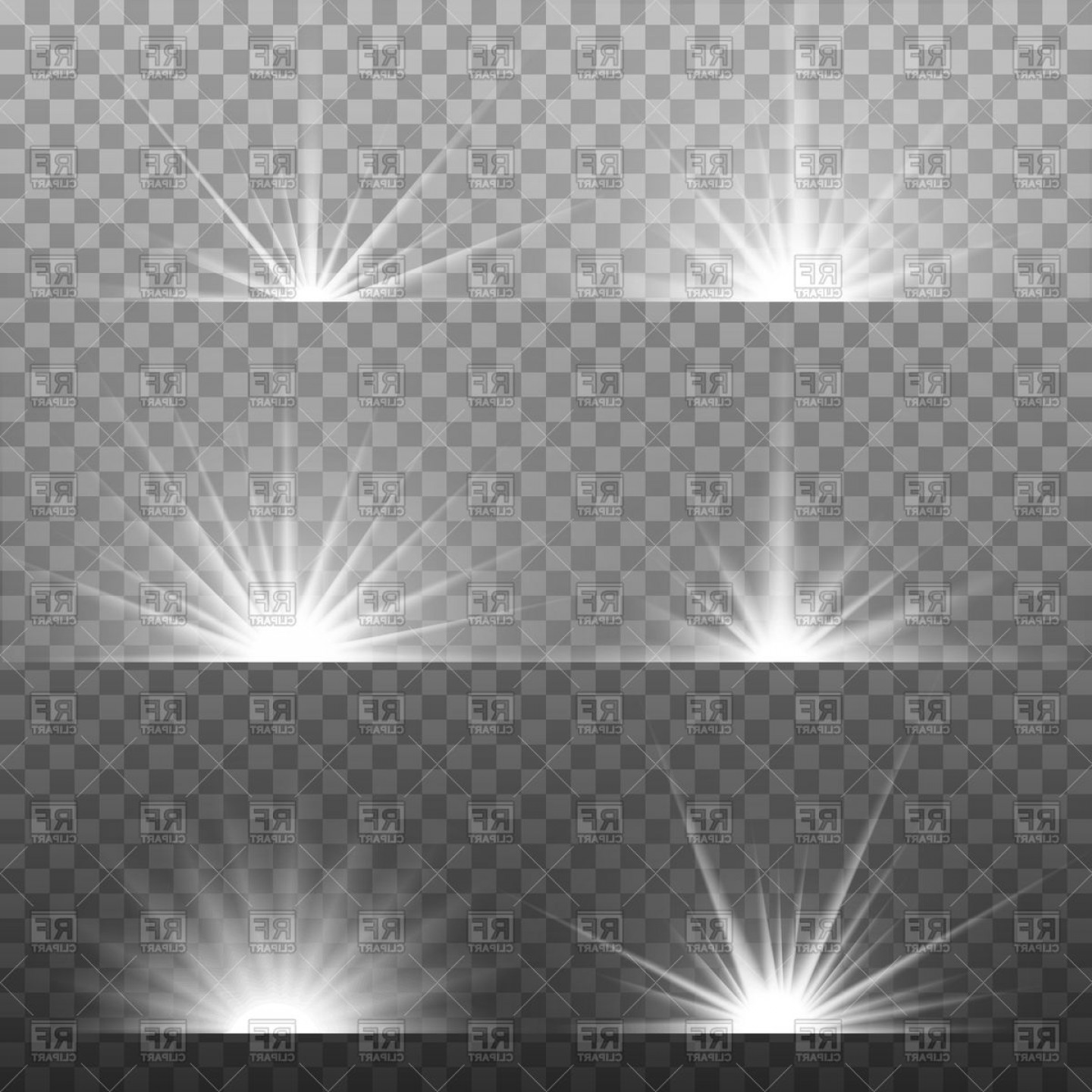 Glow vector clipart vector transparent stock Vector Black And White Light | SOIDERGI vector transparent stock