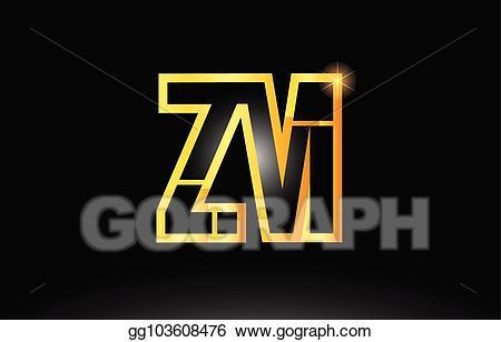 Gls logo clipart png freeuse download EPS Vector - Gold black alphabet letter zm z m logo combination icon ... png freeuse download