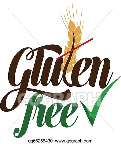 Gluten free logo clipart svg black and white stock EPS Vector - Gluten free. Stock Clipart Illustration gg66255430 ... svg black and white stock