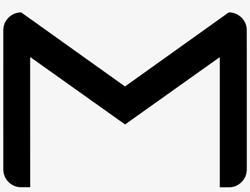 Gmail icon clipart black and white royalty free Gmail Comments - Google Mail Logo Black And White - Free Transparent ... royalty free