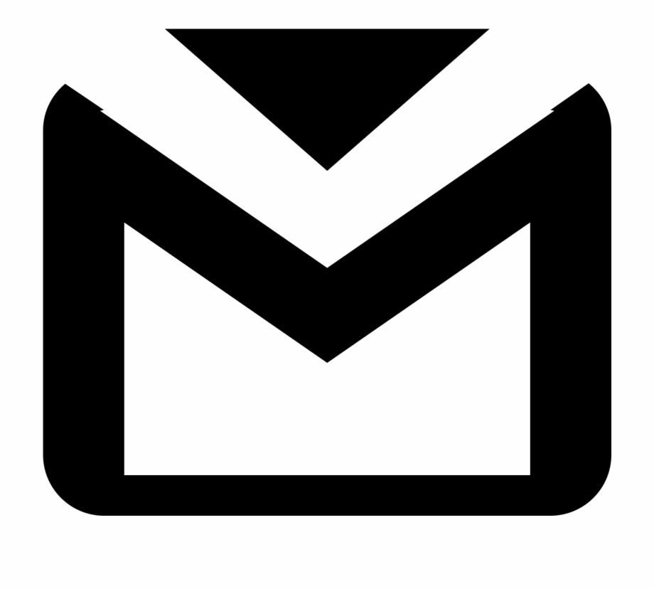 Gmail icon clipart black and white clip art freeuse library Computer Icons, Gmail, Email, Black, Black And White - Transparent ... clip art freeuse library