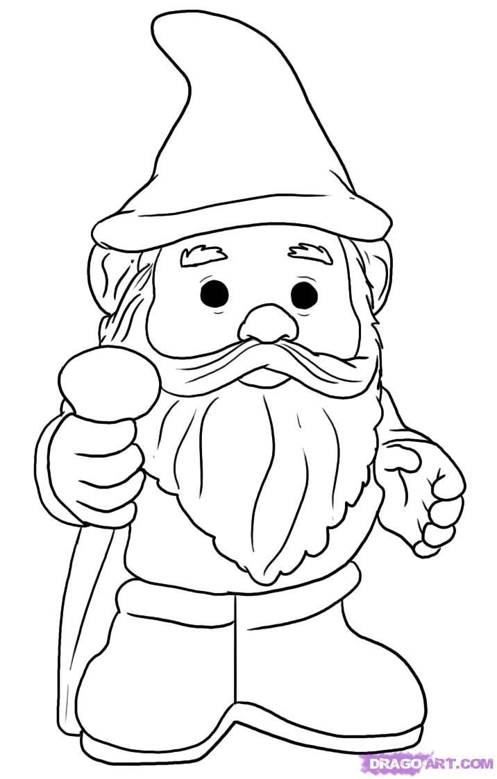 Gnome clipart black and white freeuse download Gnome clipart black and white 6 » Clipart Portal freeuse download