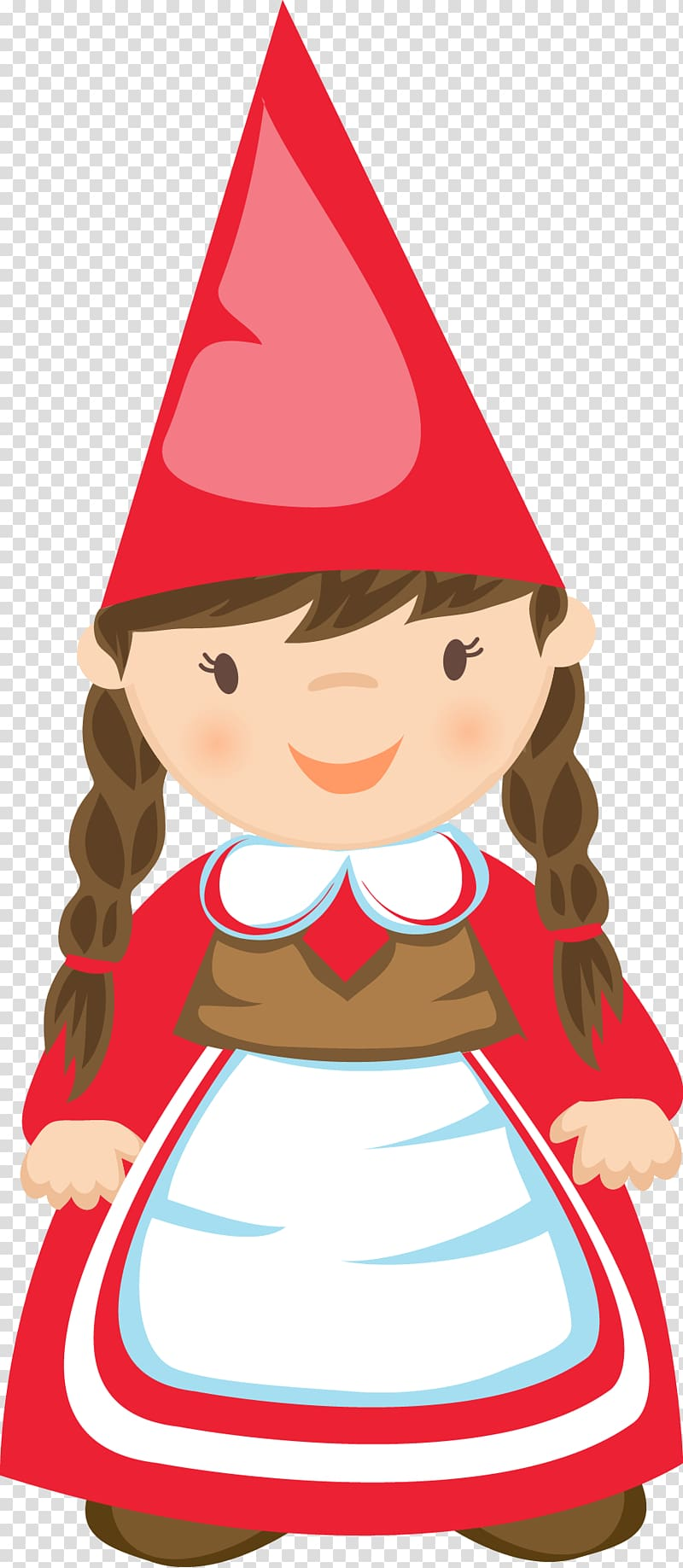 Gnome hat black and white png clipart clipart black and white Garden gnome , cute girl transparent background PNG clipart | HiClipart clipart black and white