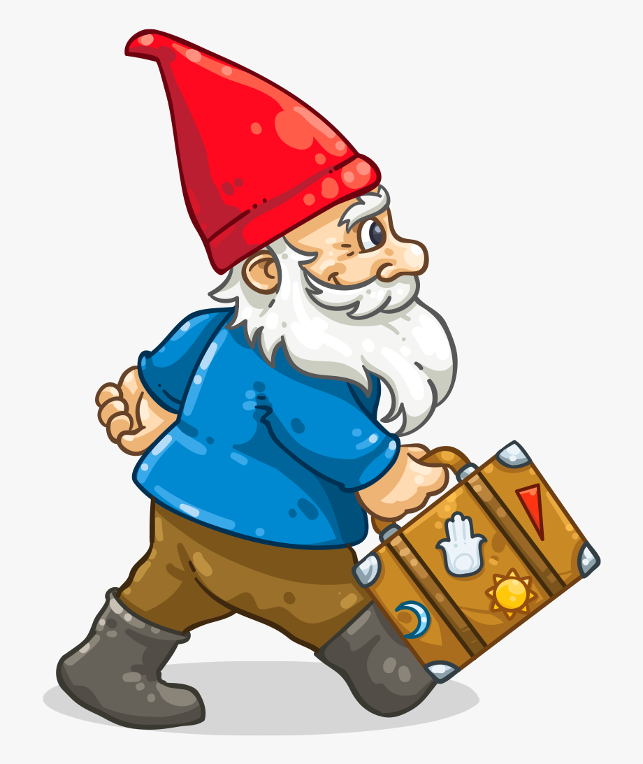 Gnomes clipart svg royalty free Roaming Gnome - Roaming Gnome Cartoon #435819 - Free Cliparts on ... svg royalty free