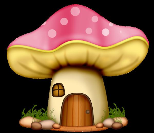 Troll house clipart jpg black and white stock champignons,png,tubes | Glass Art 1 | Pinterest jpg black and white stock