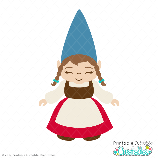 Gnome images clipart jpg transparent library Girl Garden Gnome SVG File & Clipart for Cricut & Silhouette jpg transparent library