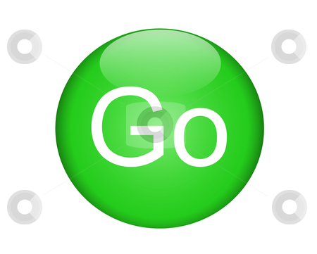 Go button clipart clipart free stock Green Go Button stock vector clipart free stock