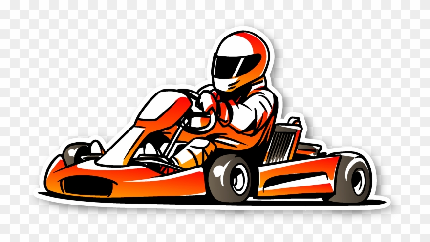 Go cart clipart clipart freeuse stock Familyfun Orangegocart - Go Kart Racing Icon Clipart (#4006122 ... clipart freeuse stock