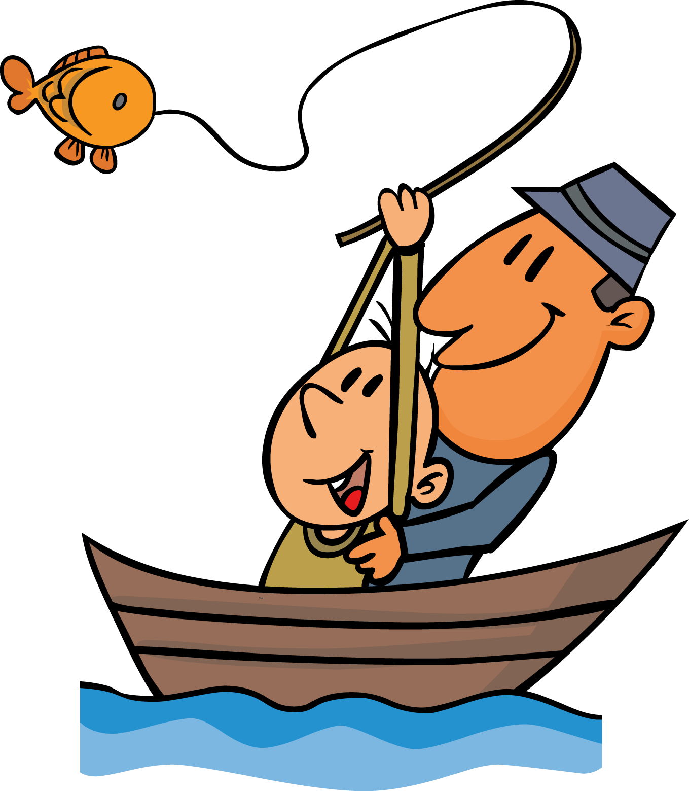 Fishing clipart go fish pencil and in color fishing - ClipartPost clip library download