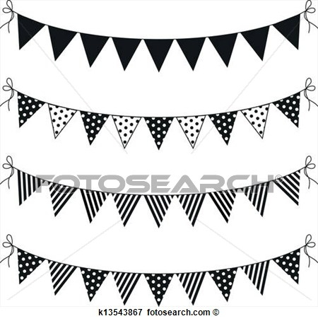 Go flag pendant black & white clipart graphic free download Pennant Flag Clipart Black And White graphic free download