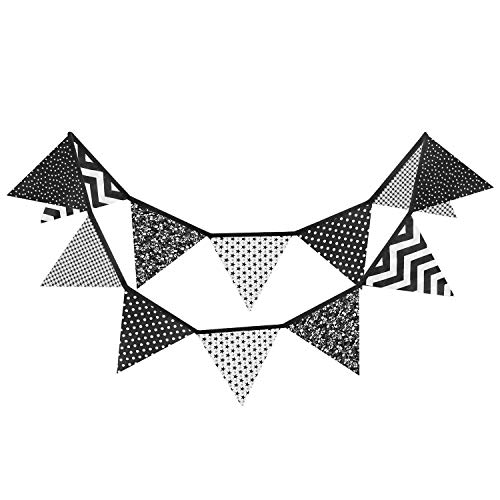 Go flag pendant black & white clipart clip transparent download White Bunting: Amazon.co.uk clip transparent download