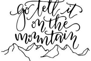 Go tell it on the mountain clipart png royalty free Go tell it on the mountain clipart 1 » Clipart Portal png royalty free