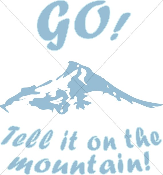 Go tell it on the mountain clipart vector freeuse stock Go Tell it on the Mountain | Christmas Carol Word Art vector freeuse stock