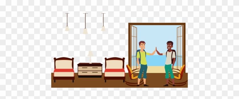 Go to school or stay at room clipart