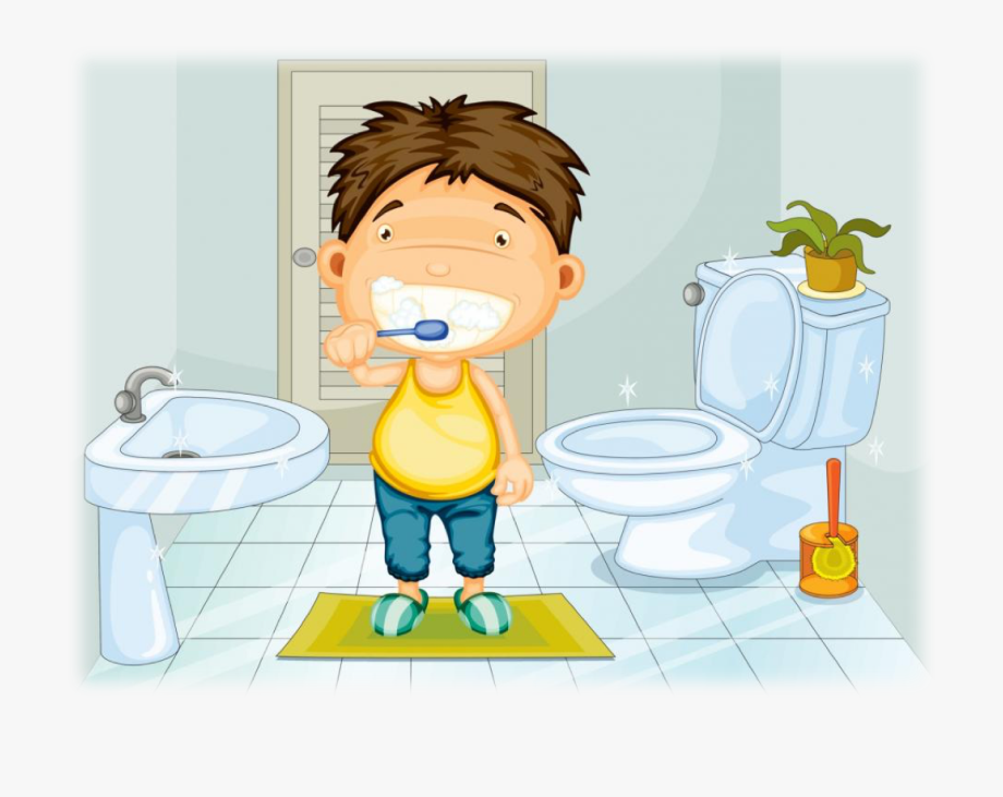 Go to the bathroom clipart png black and white library Germs Clipart Potty - Go To The Bathroom And Brush My Teeth #912579 ... png black and white library
