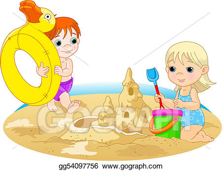 Go to the beach clipart png library Vector Art - Day at the beach. Clipart Drawing gg54097756 - GoGraph png library