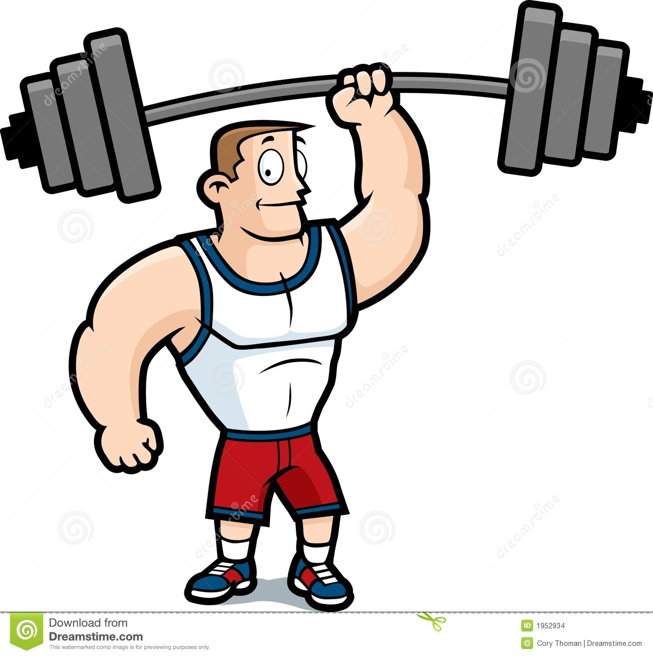 Going to the gym clipart