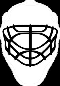 Black Goalie Mask Clip Art at Clker.com - vector clip art online ... image royalty free library