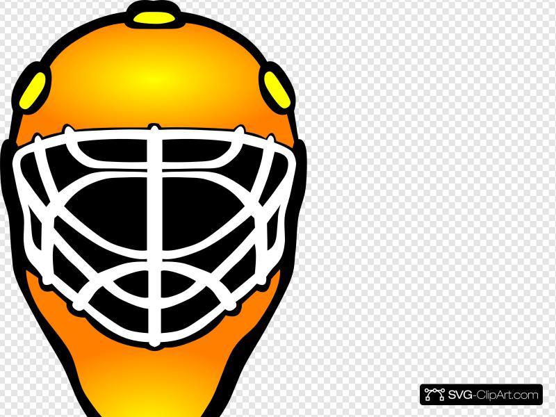 Goalie mask clipart svg black and white download Orange Hockey Goalie Mask Clip art, Icon and SVG - SVG Clipart svg black and white download