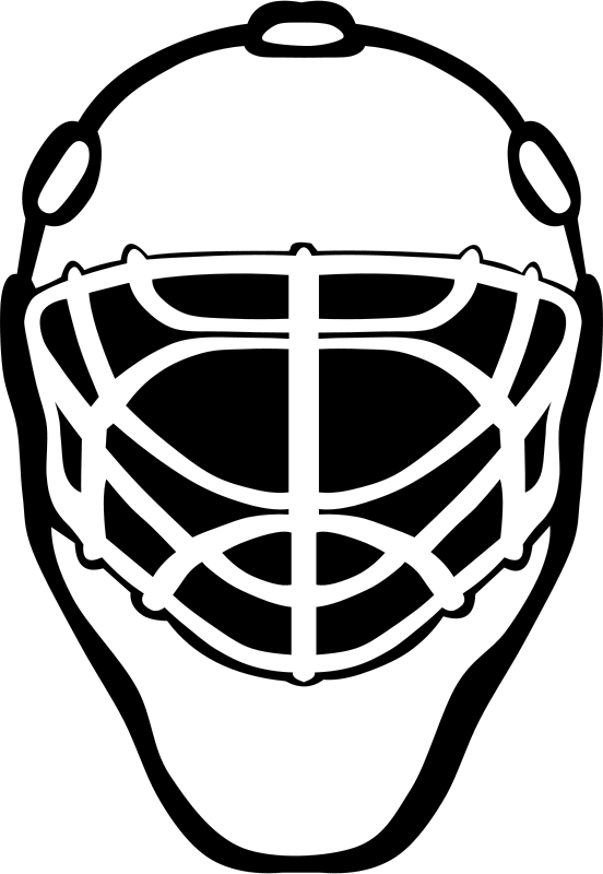 Goalie mask clipart clipart transparent library Free Clipart: G Goalie mask simple 2 | Gerald_G clipart transparent library