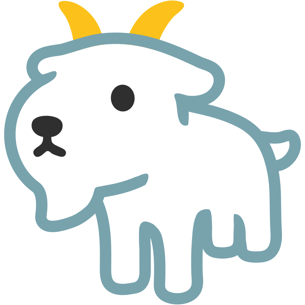 Goat emoji clipart image transparent download James Grebey on Twitter: \