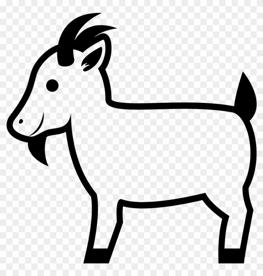 Goat emoji clipart banner transparent download Goat Emoji Png - Goat Emoji Black And White, Transparent Png ... banner transparent download