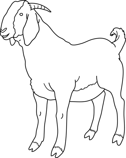 Goat outline clipart image black and white download Free Goat Cliparts, Download Free Clip Art, Free Clip Art on Clipart ... image black and white download