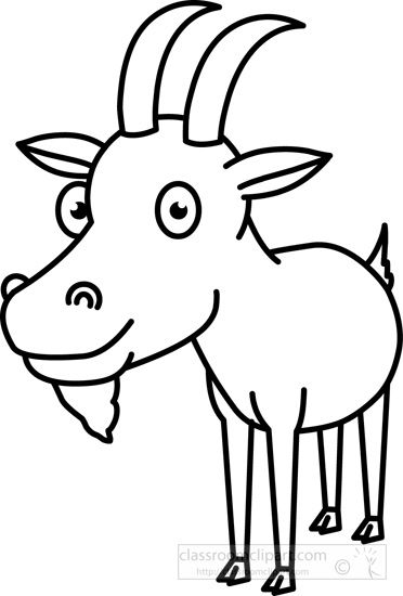 Goat outline clipart clip art free stock Pin by Nelda Mullins on Clip Art | Animals black, white, Goats ... clip art free stock