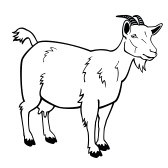 Goat outline clipart clip library Goat clipart outline 4 » Clipart Portal clip library