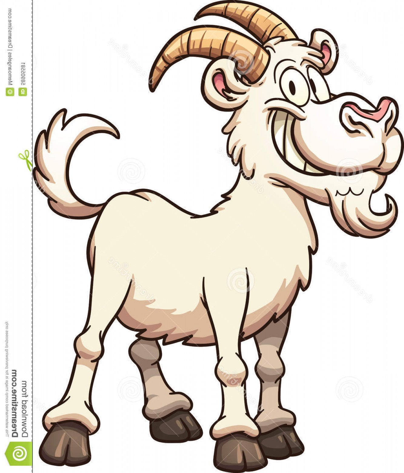 Goat vector clipart svg royalty free library Stock Illustration Cartoon Goat Happy Vector Clip Art Illustration ... svg royalty free library