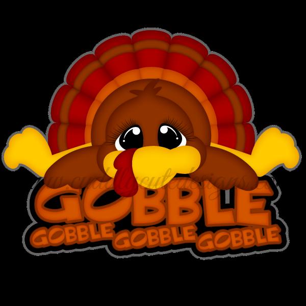 Turkey gobble clipart banner stock Thanksgiving banner stock